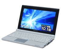 ドスパラ 10.1インチワイド液晶を搭載で 29,980円の低価格ネットブック 『Prime Note Cartina HS』を発売